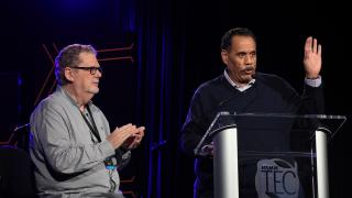 Dave Pensado and Herb Trawick present at the 33rd NAMM TEC Awards